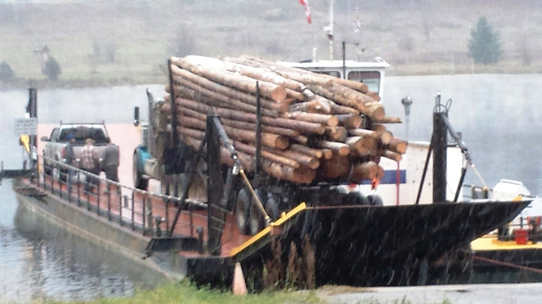 Logging truck on Glade Ferry 2015